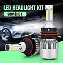Auto Car Headlight - Pack of 2 COB LED, 40W 10000LM All In One Car LED Headlights Bulb Fog Light, White 6000K Head Lamp H1 H4 H7 H8 H9 H10 H11 H13 HB1-HB5 9003-9008
