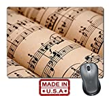 "Liili Natural Rubber Mouse Pad/Mat with Stitched Edges 9.8"" x 7.9"" Rolls of sheet music public domain Photo 5575803"
