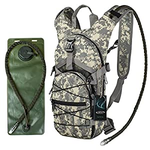 "G4Free hydration pack Sports runner Hydration Backpack With Bladder (19.68""x 8.26""x 4.72"") (ACU Camouflage)"