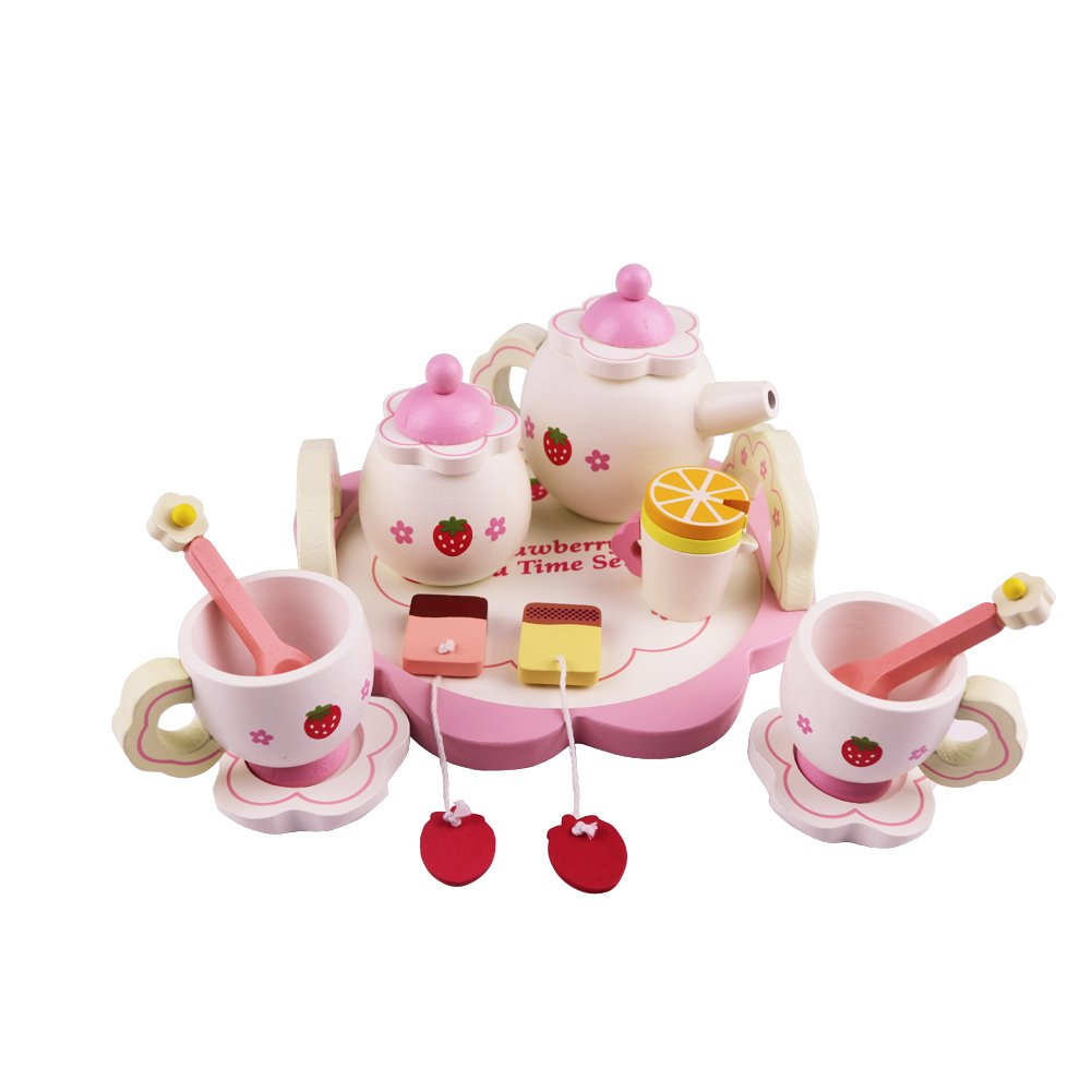 Playskool Tea Set   Set of 12 pcs Adorable Wooden