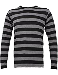 Striped Long Sleeve Shirt Black Stone Grey Adult