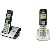 $34 » VTech CS6719 DECT 6.0 Cordless Phone with Caller ID/Call Waiting, 1 Handset, Silver/Black &…