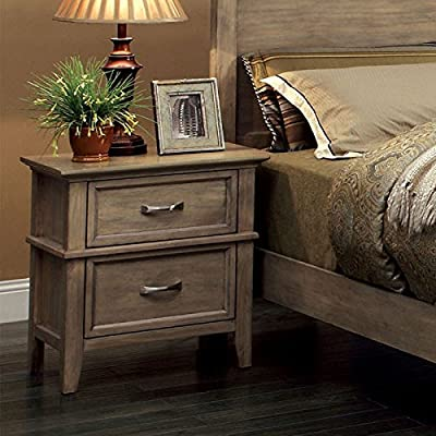 "247SHOPATHOME , nightstands, Oak - Solid wood & veneer Bleach Oak Finish Nightstand dimensions: 24"" W x 16"" D x 26.25"" H - nightstands, bedroom-furniture, bedroom - 51yyDMTcCJL. SS400  -"