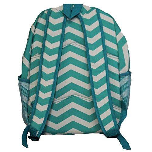 World Traveler Multipurpose Backpack 16-Inch, Blue White Chevron, One Size by World Traveler (Image #5)
