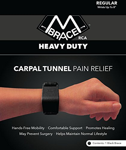 M BRACE RCA - HEAVY DUTY - Carpal Tunnel Treatment Wrist Support (Regular, Black)