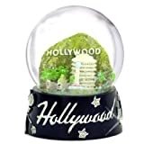 Hollywood Snow Globe, Skyline with Landmarks 65mm Snow Globes of California