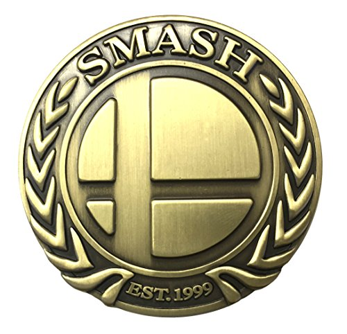'Super Smash Badge' Deluxe Metal Pin (Antique Bronze)