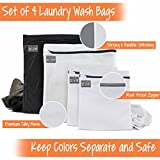 InsideSmarts Delicates Laundry Wash Bags, Set of 4 (2 Medium & 2 Large)