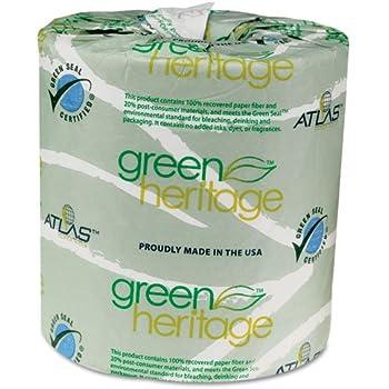 Atlaspapermills 280green Green Heritage Bathroom Tissue 2 Ply 500 Sheets Roll 80