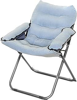 Chaise de Sol, Sofa floding Paresseux créateur avec Le Dossier et Les accoudoirs, canapé créatif Unique de chaises créatives portatives (Couleur : Mer Bleue)