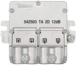 Televes 542503 - Mini derivación 5 2400mhz easyf 2d 12db ta