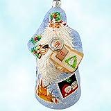 Patricia Breen Special Characteristics Restricted Quantity Snowflake Evans Santa Polish Glass Ornament NWT