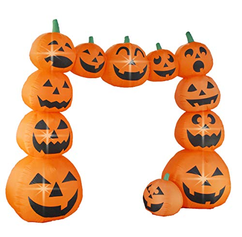 Bigjoys 8 Ft Halloween Inflatable Pumpkin Arch Archway Gate Decoration for Indoor Outdoor Home Yard Party by Bigjoys (Image #2)