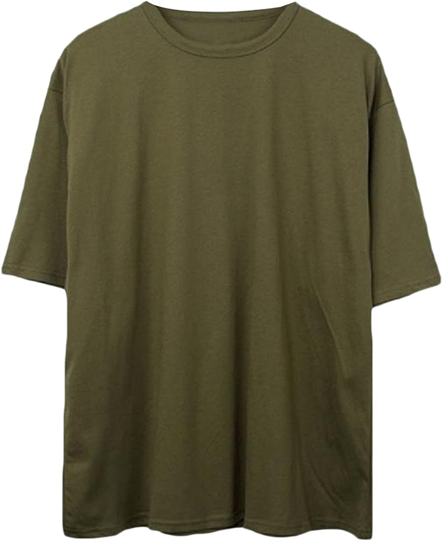 FreelyMen Short Sleeves Plus-Size Chinese Style Pure Colour Linen Tops Shirt