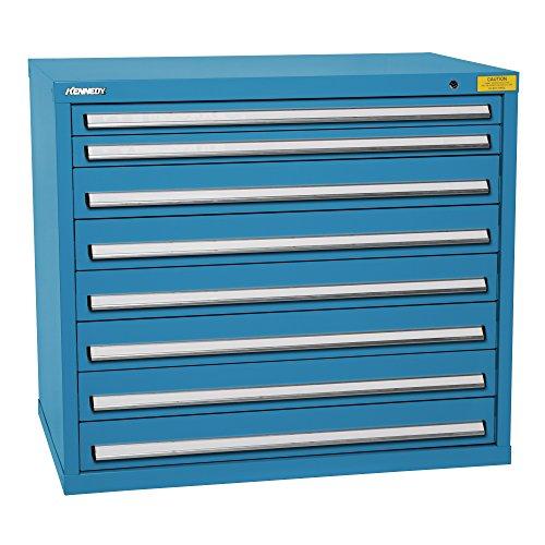 - Kennedy Manufacturing 7427UB Wide-Standard HDS 8-Drawer Countertop High Cabinet, Supply Room Storage Workstation Work Bank, Blue