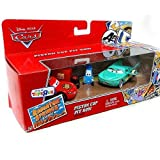 Disney Pixar Cars, Radiator Springs Classic, Exclusive Piston Cup Pit Row Gift Pack (Lightning McQueen, Pit Crew Member Guido, and Pit Crew Member Flo) 1:55 Scale