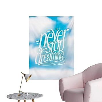 Amazoncom Anzhutwelve Quote Wallpaper Aqua Never Stop