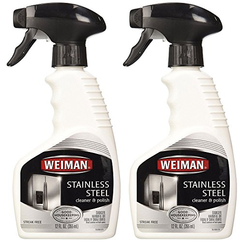 Weiman Stainless Steel Cleaner & Polish Trigger Spray, 12 oz-2 pk