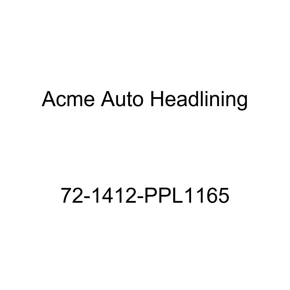 1972 Chevrolet Caprice and Impala Custom 2 Door Hardtop Acme Auto Headlining 72-1412-PPL1165 Black Replacement Headliner 5 Bow