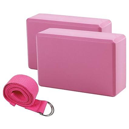 KINDOYO Cinturón de Yoga - Bloque de Yoga y Cinturón Kit de ...