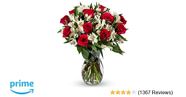 Amazon Benchmark Bouquets Signature Roses And Alstroemeria