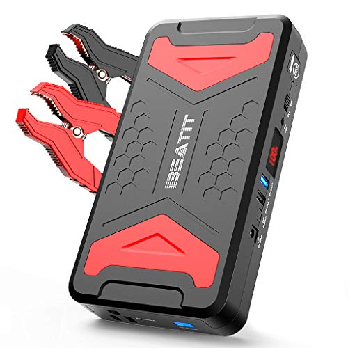 BEATIT QDSP 2200A Peak 21000mAh 12V Portable Car Lithium Jump Starter (up to 10L Gas or 10L Diesel Engine) Battery Booster Phone Charger Power Pack with Smart Jumper Cables and 110V Inverter BP101 ()