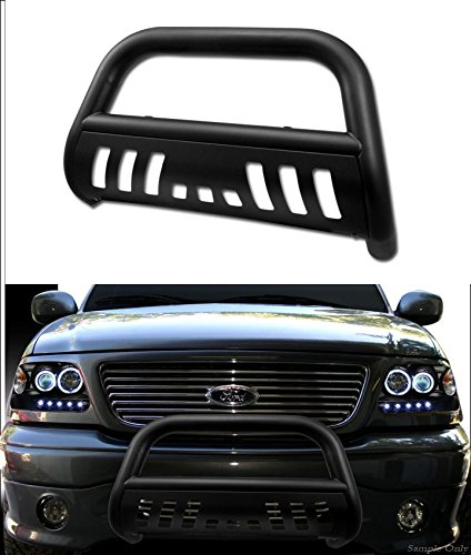 VXMOTOR Matte Black Heavyduty Bull Bar Bumper Grill 97-03 Ford F150/F250 Lightduty 4WD/99-03 F150 Lightduty 2WD/01-03 F150 Super Crew Cab/04 F150 Heritage/97-02 Expedition 4WD/99-02 Expedition 2WD