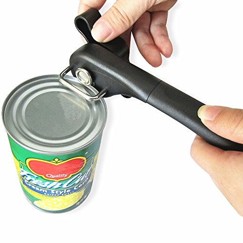 Safety Side Cut Manual Can Tin Opener with Smooth Edge, Stai