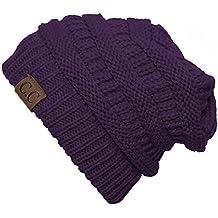 C.C Women's Thick Slouchy Knit Beanie Cap Hat