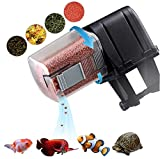 AquaticHI Digital Automatic Fish Feeder for Aquariums/Reptile Tank/Pond, Programmable for up to Four