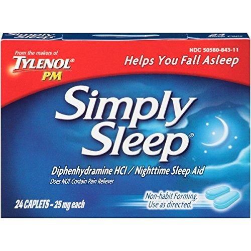 Tylenol Simply Sleep Nighttime Sleep Aid Caplets(25 mg), 24-Count by Simply Sleep (Nighttime Caplets 24)