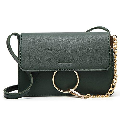 Handbag Women White Purse Faux Hobo Shoulder Shoresu Bag Messenger Crossbody Fashion Leather Green HpwxCqB