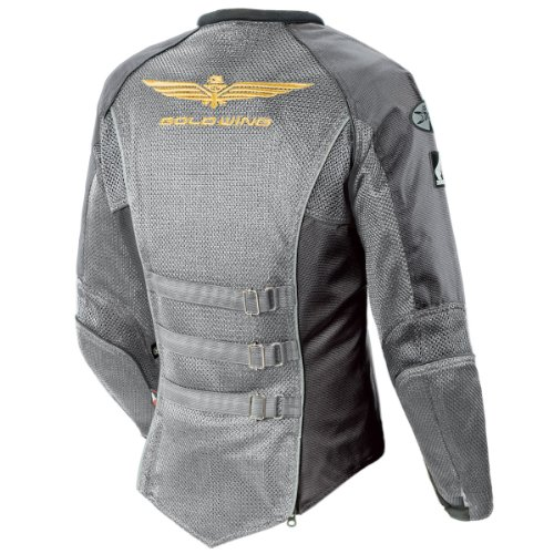 Joe Rocket Skyline 2.0 Womens Silver/Grey Mesh Motorcycle Jacket - Large Goldwing Skyline Mesh Jacket