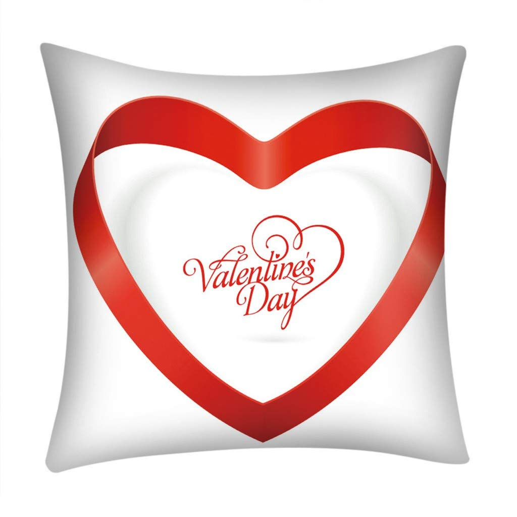Mome Decorative PillowcasesNewest Home Decoration,Soft Valentine's Day Print Pillow Case,Polyester Sofa Car Cushion Cover Home Decor,18x18 Inch,Mulitcolor (D)