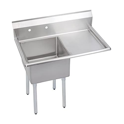 S-Series 3-Compartment Sink, 18 Right drainboard
