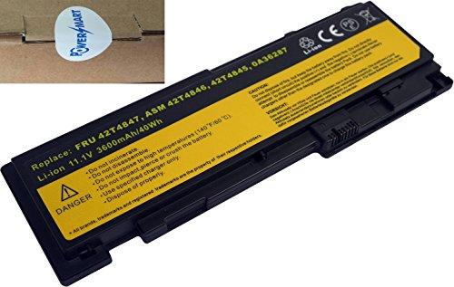 PowerSmart 11.1V 3600mAh Li-ion Battery for LENOVO ThinkPad T420s, T420si, T420s 4171-A13 Laptop, 0A36287, 42T4844, 42T4845, ASM 42T4846, FRU (3600mah Li Ion Laptop Battery)