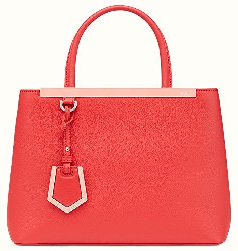Fendi Red Bag (Fendi women's leather handbag shopping bag purse petite 2jours red)