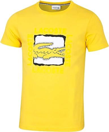 Lacoste Camiseta - Algodón Hombre Talla: Medium: Amazon.es: Ropa y ...