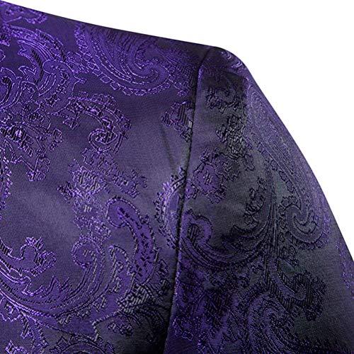 Tuxedos Styles Jeunes Casual Costumes Retro Fit Bouton Lilas Soirée Blazer Mariage Veste Discothèque De Hommes Un Manteau Impression Slim wfqwxZrv