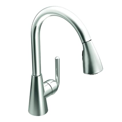 Moen S71708 Ascent One Handle High Arc Pulldown Kitchen Faucet