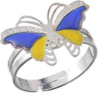 Inception Pro Infinite Anello Magico Dell'Umore Mood Ring con Simbolo Farfalla Cambia Colore A Seconda Dell'Umore Idea Regalo Ragazze Ragazzi IT Regolabile