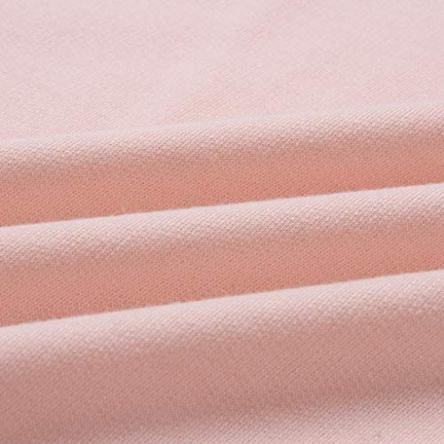 Courtes DAYLIN Col Chemisier V Rose Solid Manches Dcontract Top Femme 61Z6T0R