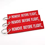 Rotary13B1 Remove Before Flight Key Chain - 3 Pack Red by