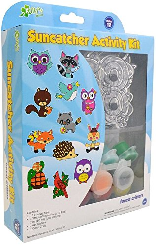 Kelly's Crafts Sun Catcher Group Pack, Forest Critters, Makes 12