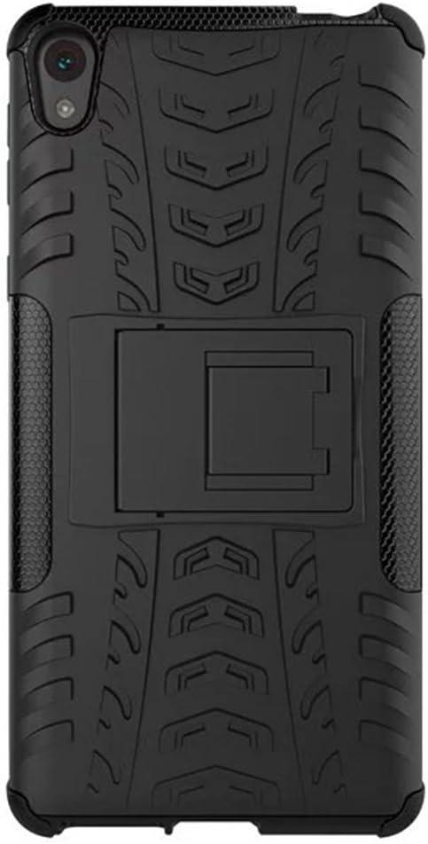 FaLiAng Sony Xperia E5 Funda, 2in1 Armadura Combinación A Prueba ...