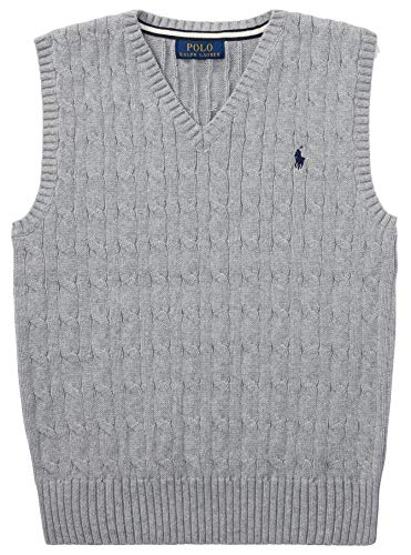 Ralph Lauren Baby Boys' Cable-Knit Cotton Sweater Vest (XL, - Lauren Vest Boys Sweater Ralph