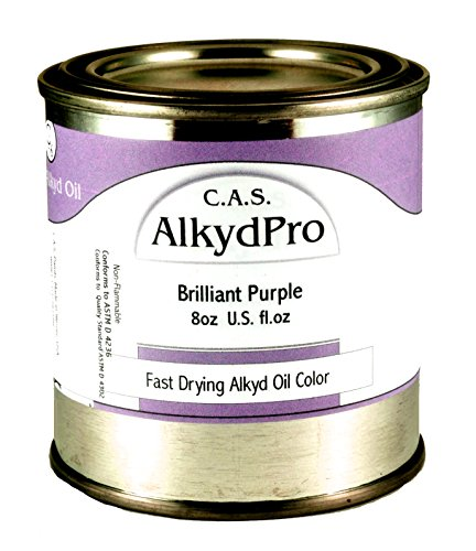 C.A.S. Paints AlkydPro Fast-Drying Oil Color Paint Can, 8-Ounce, Brilliant Purple
