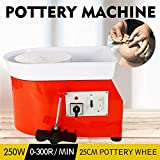 Art Supply Ceramics TBVECHI 350W Electric Pottery Wheel Molding Machine for Ceramic Work Clay Art Craft DIY 110V 3 Types - Reversible Spin Direction - Ceramics Clay Pot, Bowl, Cup, Art (Orange)