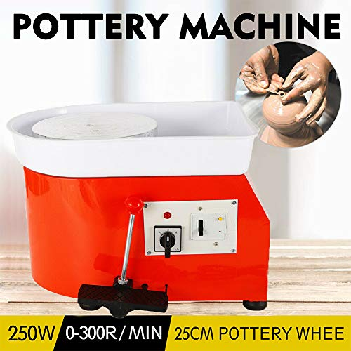 Art Supply Ceramics TBVECHI 350W Electric Pottery Wheel Molding Machine for Ceramic Work Clay Art Craft DIY 110V 3 Types - Reversible Spin Direction - Ceramics Clay Pot, Bowl, Cup, Art (Orange) by TBvechi (Image #8)