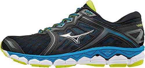 Bleues Pour Sky Mizuno Noires Hommes Chaussures Course De Wave Diva Argentes q6Yzxwg